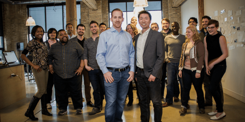 Co-Founders Aaron Dallek & Dr Steven Lee with the Opternative Team