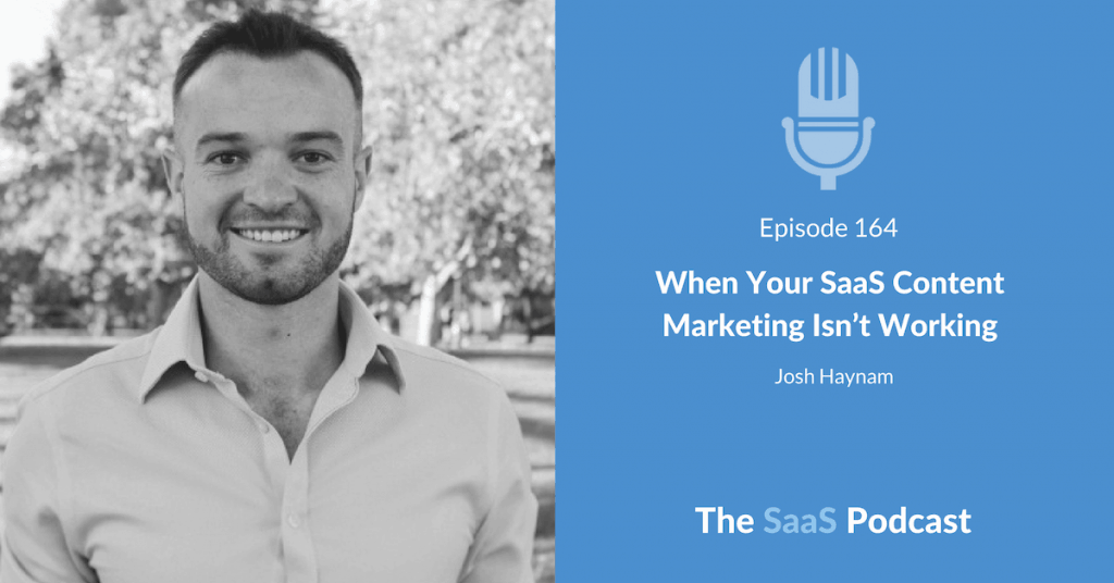 SaaS Content Marketing - Josh Haynam